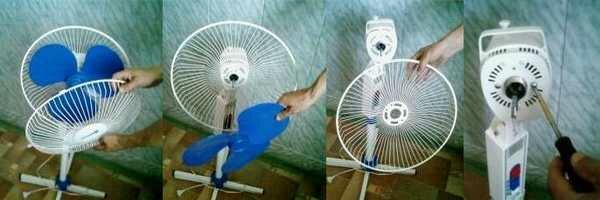 Разборка напольного вентилятора