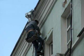 Монтаж воздуховодов на фасаде здания
