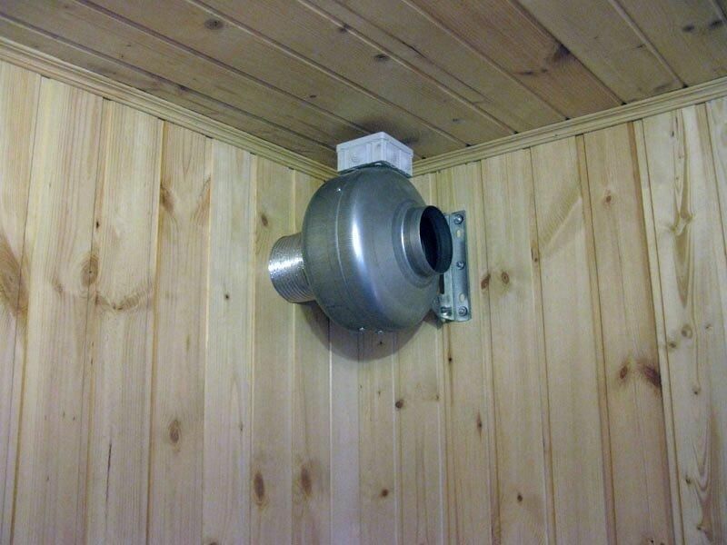 Вытяжной вентилятор в бане