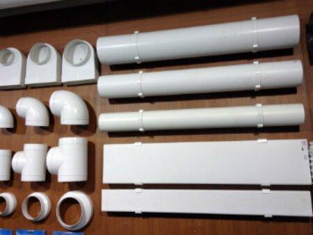 Разновидности пластиковых труб и соеденений для вентиляции
