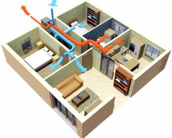 Система вентиляции подключенная к общей системе