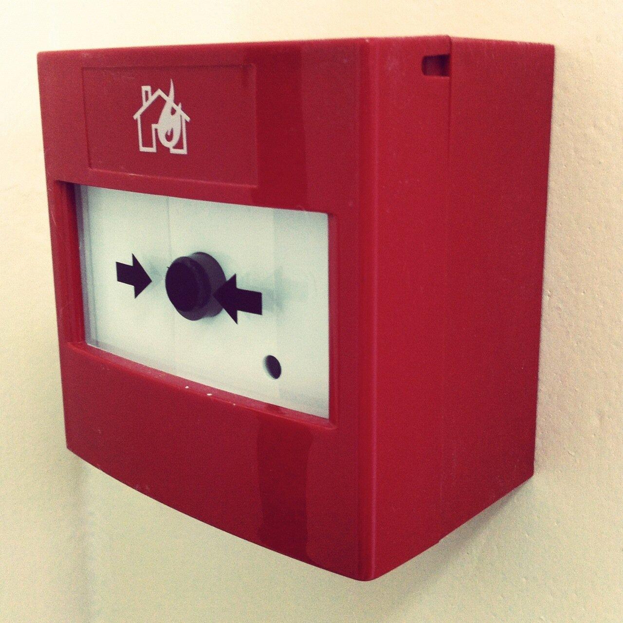 Кнопка беспроводной пожарной сигнализации