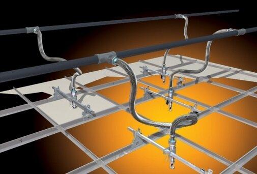 Подключение спринклерной системы пожаротушения