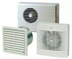 Виды вентиляторов для ванных комнат