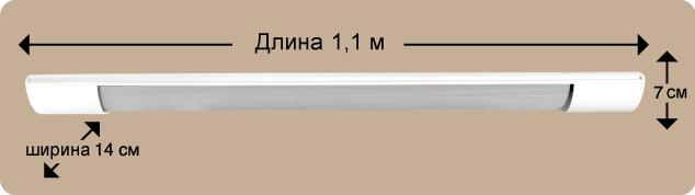 Размеры стандартные инфракрасного потолочного обогревателя timberk