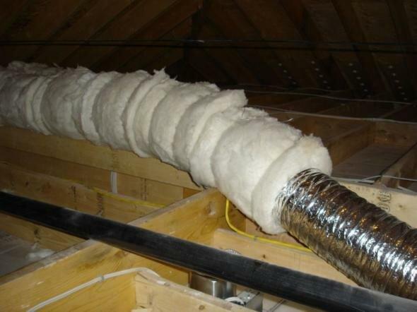 Утепленная вентиляционная труба в частном доме