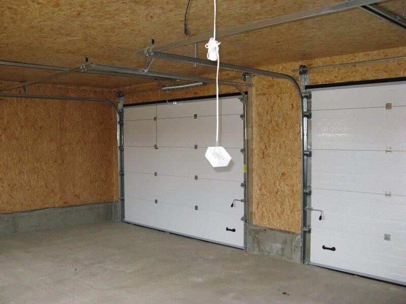 Теплый гараж оббитый плитой ОСБ
