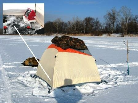 Инфракрасный обогреватель применяемый в палатке