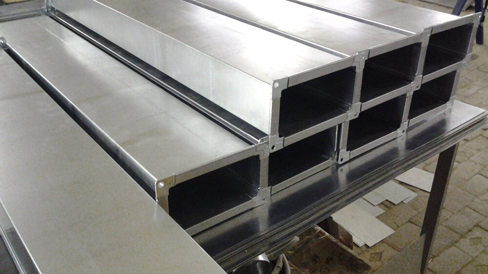 Прямоугольные воздуховоды из оцинкованной стали