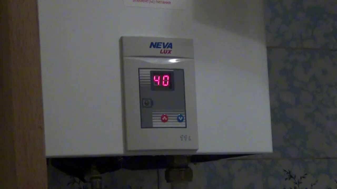 Дисплей газовой колонки Нева люкс